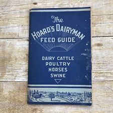 Vintage Booklet Farming Feed Guide Hoard's Dairyman History Cattle Horses Book