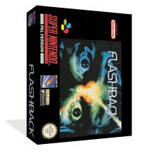 Flashback SNES-Reemplazo Caja del juego con inserto de Arte de Caja Cubierta (caso juego Solamente)