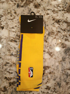 Nike Los Angeles Lakers Player Issued Calf Socks Lore Series Size XXL 15-18