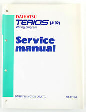 Daihatsu Terios J102, 2000 factory workshop manual electric wiring in as new con