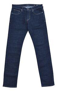BALDESSARINI - Jeans John - Slim Fit Étroit Jambe Bleu Blue Rinser - W36 L34 -
