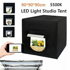 Photography LED Tent 90cm Light Box Studio Backdrop Portable Cube Room Kit