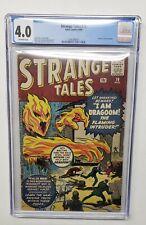 Strange Tales #76 Human Torch Prototype Kirby Ditko CGC Atlas 1960 Grade 4.0
