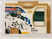 2017-18 UD Premier Swatches Premium Patch Ben Bishop Hockey Stars 24/25