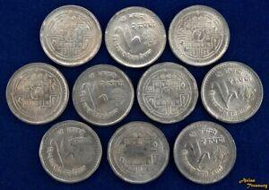 1981 NEPAL 2 RUPEE F.A.O. WORLD FOOD DAY KING BIRENDRA BIKRAM COIN KM#832 AU/UNC