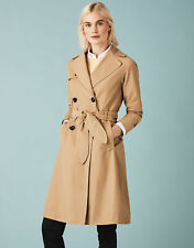 New Crew Clothing Womens Trench Coat in Stone