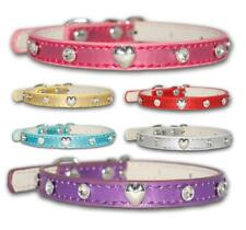Dog Collars Tiny Bling Diamante Fashion Puppy Puppies Designer Cute XS Small UK