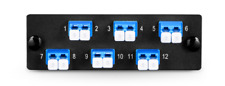 Fiber Adapter Panel with 6 LC Duplex OS2 Singlemode Adapters(Blue) - 645180