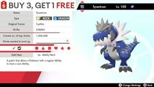 ✨ Shiny Tyrantrum ✨ Pokemon Sword and Shield Perfect IV 🚀Fast Delivery🚀