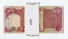 100,000 NEW CRISP IRAQI DINAR UNCIRCULATED SERIAL NUMBERED 4 x 25,000 25000 IQD