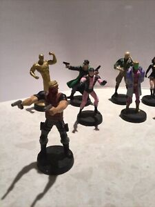 "4"" Lead DC comic figures"