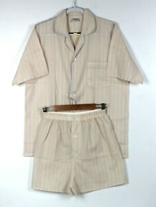 HOLEPROOF Mens Short PJ Set Sz S / 95 cm Pajamas Pyjamas Summer Lightweight
