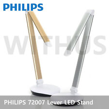 PHILIPS 72007 Lever LED Stand Home Office Table Lamp 4-Level silver/white