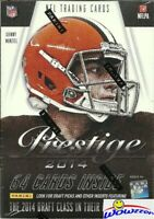 2014 Panini Prestige Football Factory Sealed Blaster Box-EXCLUSIVE JUMBO ROOKIE!