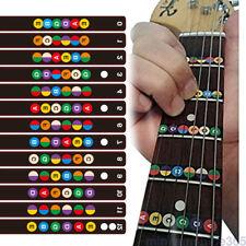 Guitar Accessories Scale Sticker Neck Fingerboard Fret board Note Learn Practice