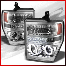 Fits 08-10 Ford F250/350/450 Super Duty CCFL Halo LED Projector Headlights Pair