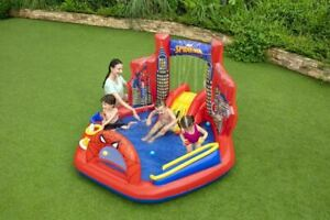 Marvel Spider-Man Inflatable Kids Water Pool Splash Play Center Outdoor Backyard