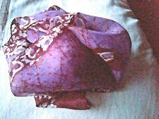 40 cm x 40 cm Fait main Bordeaux déco de Banarasi Indien Soie