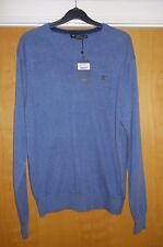 Hackett London V-Neck Silk Cotton Cashmere Jumper