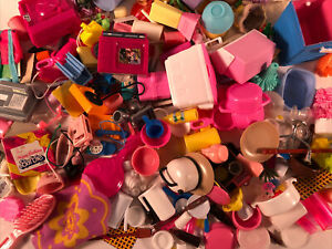 Barbie Doll HUGE LOT 260+ PIECES Accessories Food Dishes Cups Plates TV Phones