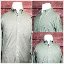 Brooks Brothers Traditional Fit Non Iron Mens Shirts L/S Checker Green Size 16