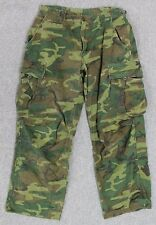 1969 Dated US Army ERDL Jungle Cammo Rip-Stop Pants Size Small, Short