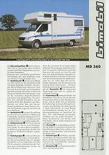 Prospekt Bimobil MD 360 Reisemobil 2002 Broschüre Wohnmobil Mercedes Sprinter