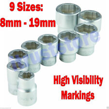 """STRIPPED BOLT NUT REMOVAL SOCKET EXTRACTOR TOOL 3/8"""" Drive MM METRIC SIZE"""