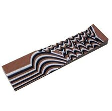 """G10: EARTH BROWN/WHITE/BLACK 1/4"""" 1.5"""" x 6"""" Scales for Woodwork, knife, bush"""