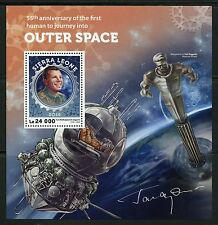 SIERRA LEONE  2016 55th ANN FIRST MANNED SPACE FLIGHT GAGRIN  S/SHEET MINT NH