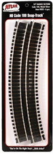 """Atlas #833   18"""" Radius Curve Track - 6 Sections - HO Scale - Code 100"""