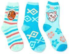 Disney Moana 3pk Child Crew Style Socks Pua Pig Maui Polynesian Princess 6-8.5
