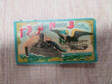 Occupied Japan Army Navy Needle Book Battleship Diamond Drilled Eyes Sewing S452