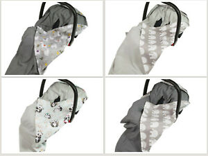 New Grey Bamboo & Cotton Baby Wrap for Car Seat / Car Seat Blanket Travel Wrap
