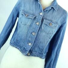 New Look Womens UK Size 10 Blue Denim Jacket (Petite)