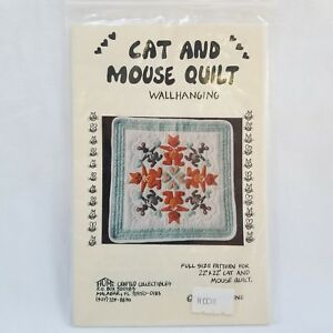 Cat and Mouse Quilt Pattern Wallhanging Lori Notestine Home Crafted Collectibles