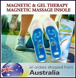 MAGNETIC GEL INSOLE SHOE INSERT PAIN RELIEF HEEL FEET FOOT MASSAGE CUSHION