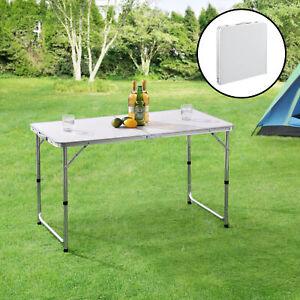 Campingtisch Klapptisch Koffertisch Falttisch Aluminium Camping 120x60cm Weiß