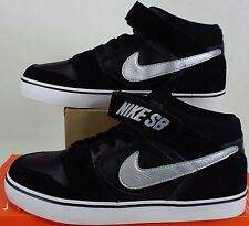 RARE SAMPLE New Mens 9 NIKE SB Mogan Mid 2 Black Silver Suede Shoes 703551-001