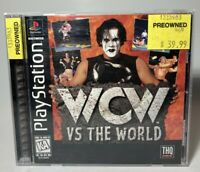 WCW VS THE WORLD STING PS1 PlayStation 1 COMPLETE BLACK LABEL GAME