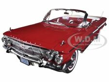 1961 CHEVROLET IMPALA OPEN CONVERTIBLE ROMAN RED 1/18 MODEL CAR SUNSTAR 3406