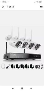 SANNCE Wireless Wifi 1080P CCTV Kit Home Security IP Camera System (no HDD)