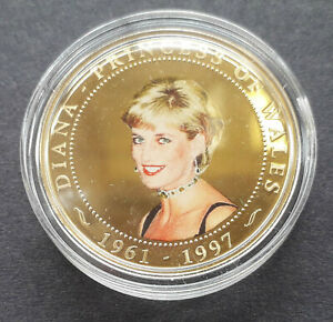 COOK ISLANDS 2007 $1 gold plated coin - PRINCESS DIANA (One Dollar)