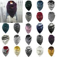 Fashion Women's Soild Dot Printing Button Soft Ladies Wrap Warm Scarves Shawls
