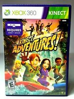 XBOX 360 KINECT ADVENTURES WITH CALIBRATION CARD & MANUAL Video Game