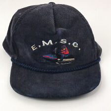 Vintage Snowmobile Snowmachine hat corduroy cap EMSC Eastern Maine Club hbx20