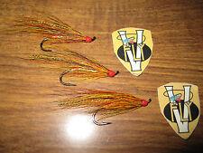 3 V Fly Size 8 Signature Gold Willie Gunn Single Hook Salmon Flies