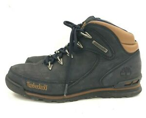 Timeberland Ankle Boots Ladies UK 6.5 EU 39.5 Navy Blue Leather Lace Up 111383