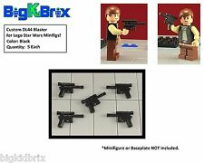 x5 Each DL44 Blaster Blasters for LEGO Star Wars Han Solo Minifigs BLACK ABS #2