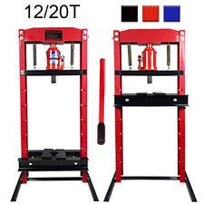 20 Ton Red Hydraulic Floor Workshop Garage Heavy Duty Shop Press Jack Stand Tool